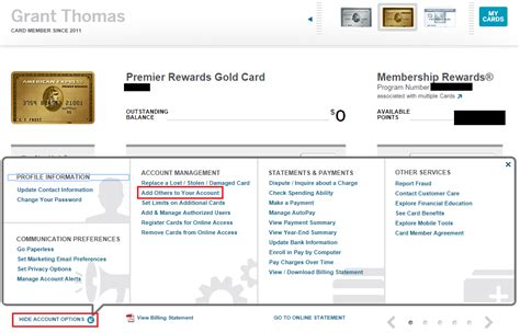 American Express Gift Card Add Name And Address - amex prg card account options