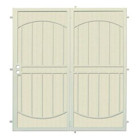 Security Patio Doors Home Depot by Unique Home Designs 72 In X 80 In Arcadamax Navajo White