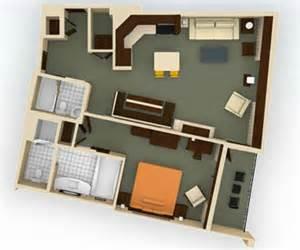 Bay Lake Tower Deluxe Studio Floor Plan Dvc Rental Bay Lake Tower