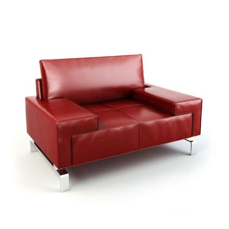red leather armchair red leather armchair 92 am112 3d model cgtrader com