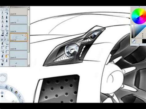 autodesk sketchbook tutorial youtube how to draw cars in perspective part 2 youtube art