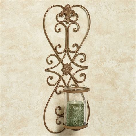 Iron Wall Sconce Salvatrice Satin Gold Wrought Iron Wall Sconce