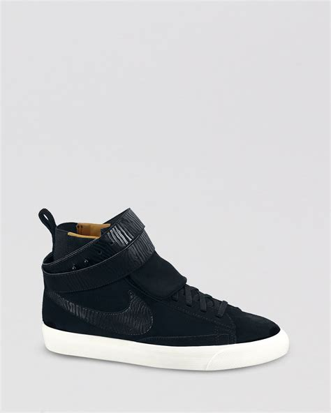 nike high top sneakers blazer twist suede in black lyst