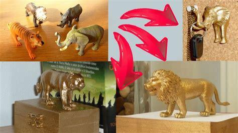 diy room decor  ideas upcycling plastic animal toys