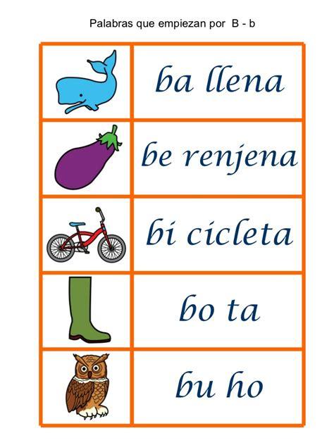 imagenes que empiecen con la letra b para recortar palabras que empiezan por 5 en una hoja para loat p t m r