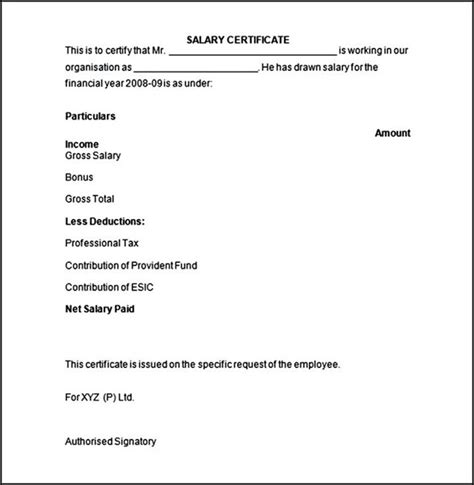 Salary Certificate Letter Format Pdf How To Write A Letter For Getting A Salary Certificate Template User Manual Cover