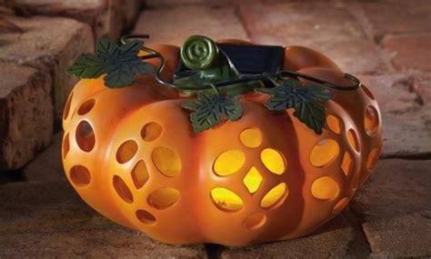 pumpkin solar lights solar powered o lantern decoration