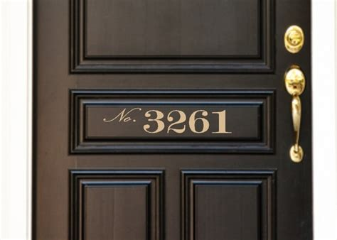 Exterior Door Numbers Custom Vinyl Front Door House Number