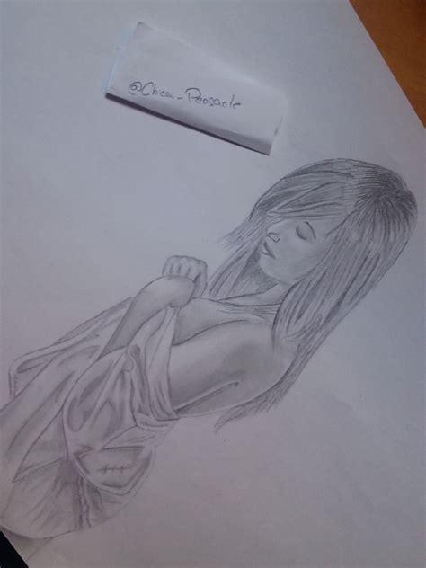 imagenes para dibujar a lapiz mujeres dibujo a l 225 piz sensual mujer en toalla taringa