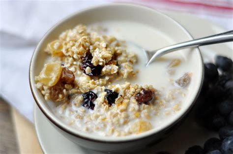 simple breakfast no cook overnight steel cut oats the