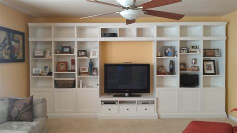 wall units inspiring built in bookshelves with tv built