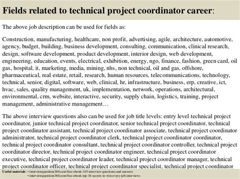 top 10 technical project coordinator questions and answers
