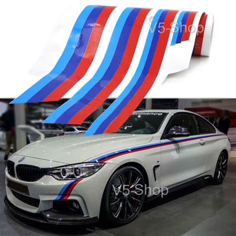 Bmw Sticker Body by 2 Side M Colored Stripe Car Body Sticker Decal For Bmw 3 5