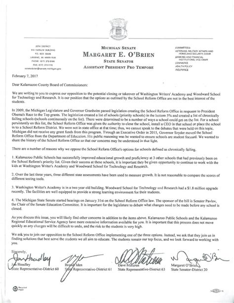 Closing Letter To Parents State Has No Business Closing Local Schools Kalamazoo County Says Mlive