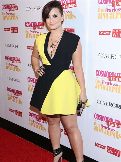 Which Demi Flawless Look Is Most Fab by Funk Rock Or Glam Rock Demi Lovato Is Sure To Look Fab