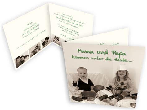 Hochzeitseinladung Und Papa Heiraten by Hochzeitseinladung Mit Foto Family