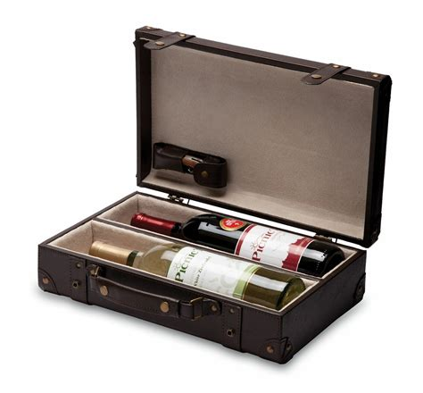 Wholesale Home Interiors by Legacy Viaggio Leatherette 2 Bottle Wine Briefcase W