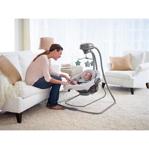 baby swing with detachable seat com graco duetconnect lx swing bouncer manor