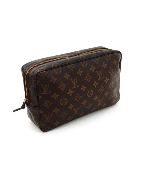 louis vuitton brown trousse toilette  monogram travel