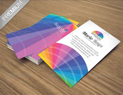rainbow business card template 50 best psd photoshop business card templates business