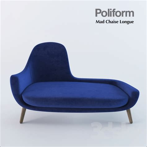 3d models: Other soft seating   Poliform Mad Chaise Longue