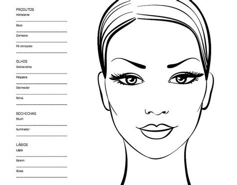 8 Best Images About Face Chart On Pinterest Posts Satan And Mac Face Charts Best Templates For Artists