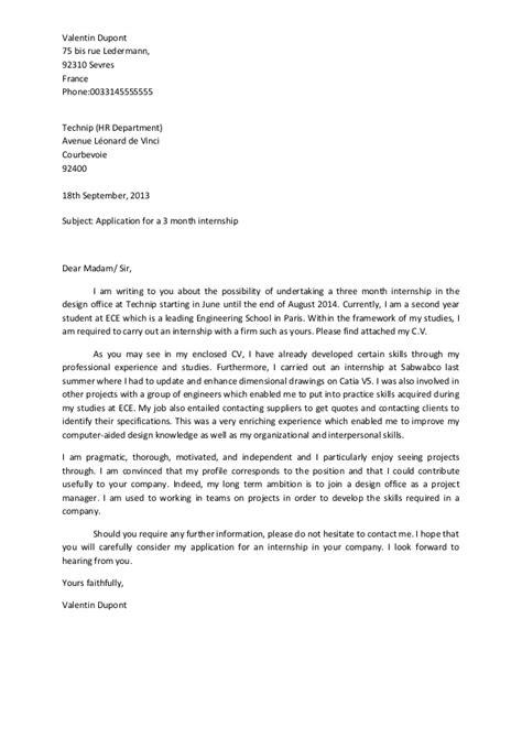 Letter Of Application: Letter Of Application Model