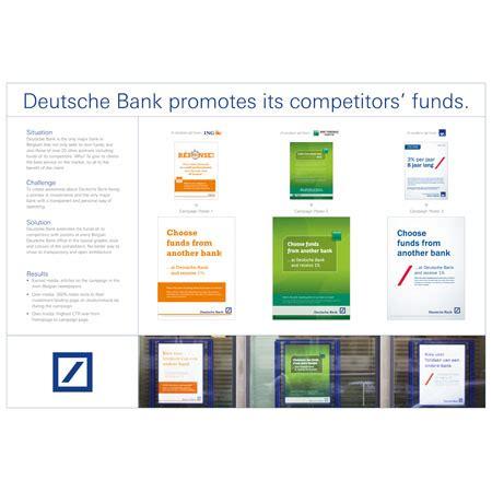 deutsche bank belgie promoting its competitors creative belgium