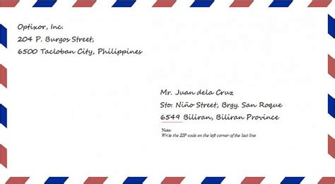 letter address format philippines business faq ph