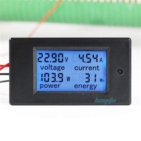 Meter Digital 100a dc digital watt kwh current power energy meter ammeter voltmeter 7 100v us ebay
