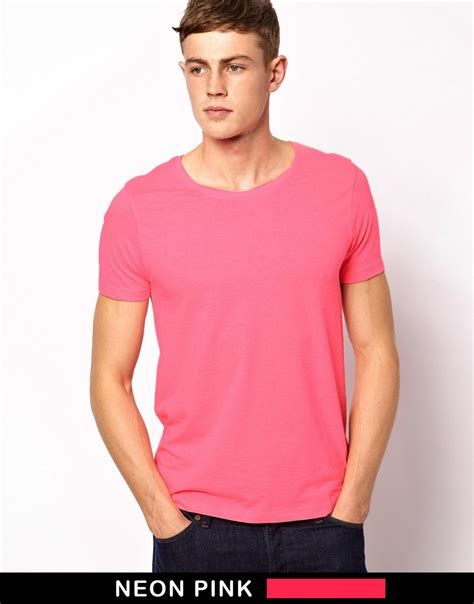 Asos T Shirt With Scoop Neck by Lyst Asos Tshirt With Scoop Neck In Pink For