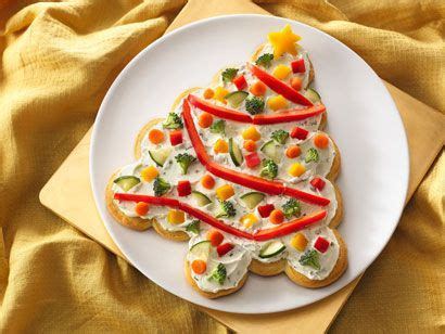 tree shaped crescent veggie appetizers recipe