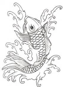 Two Koi Fish Outline by Koi Outline 08 By Vikingtattoo On Deviantart