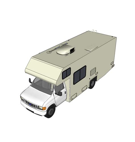Motorhome Floor Plans 3d motorhome sketchup model cadblocksfree cad blocks free