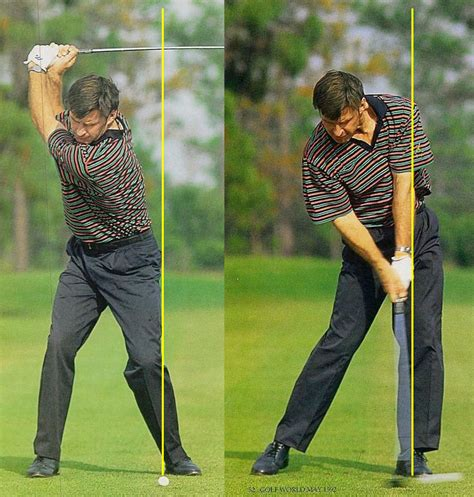 nick faldo swing golf fitness training to eliminate the sway and slide