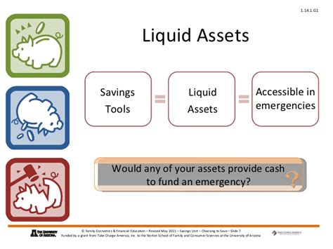 exle of liquid assets choosing to save power point presentation 1 14 1 g1