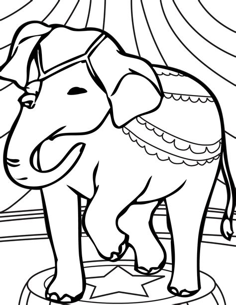 dancing elephant coloring page printable dancing elephant