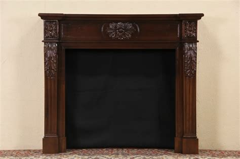 Mahogany Fireplace Mantel by Sold Fireplace Vintage Mantel Surround Carved Mahogany Harp Gallery Antique Furniture