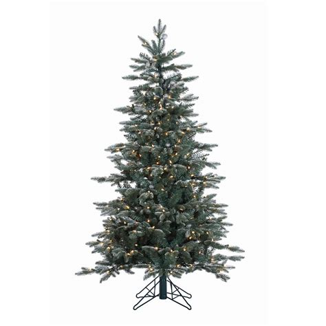 artificial silver tip tree vickerman 5 prelit frosted balsam fir artificial tree with 300 clear lights