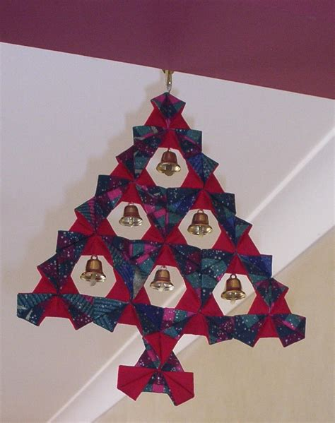 Origami Fabric Tree - make a fabric origami tree allfreesewing