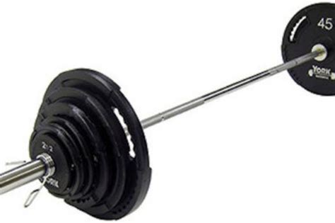 Barbel Fullset york barbell g2 300 lb olympic weight set homefit