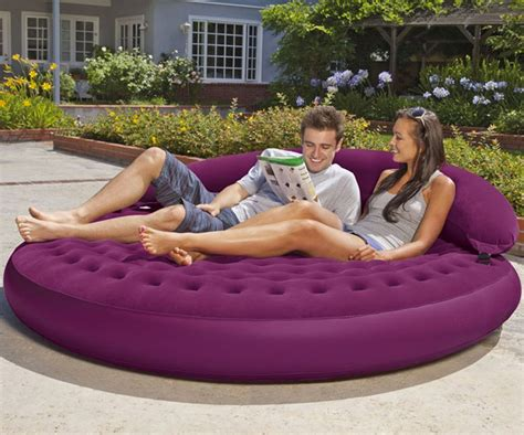 blow up pool bed intex ultra daybed inflatable lounge dudeiwantthat com