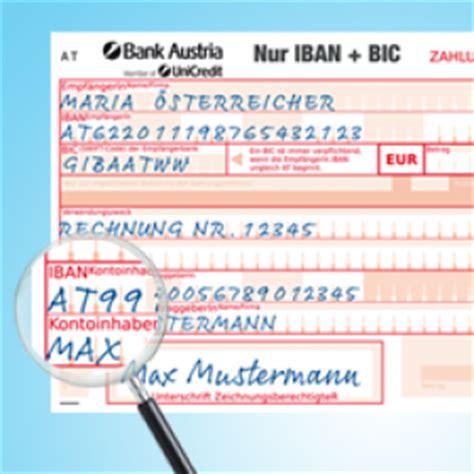 www bank austria at ab sofort bei 220 berweisungen iban und bic anstatt