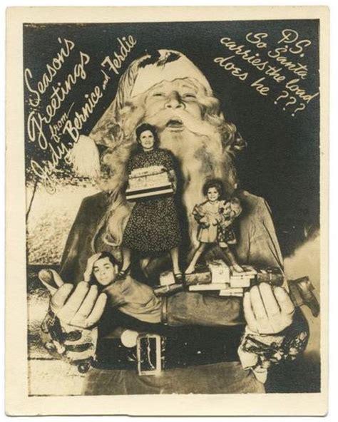 bizarre vintage christmas cards   leave  baffled