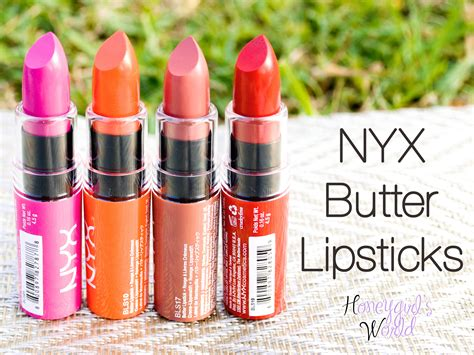 Lipstick Nyx product reveal review swatches photos nyx butter