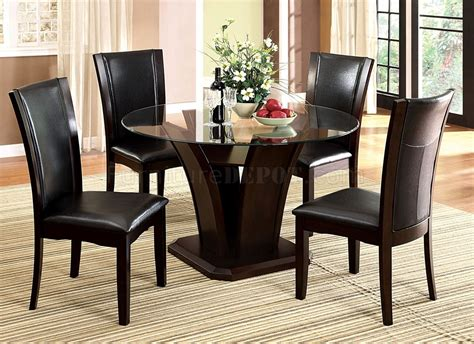 round dining room tables for 4 cm3710rt dining table in dark cherry w optional black chairs