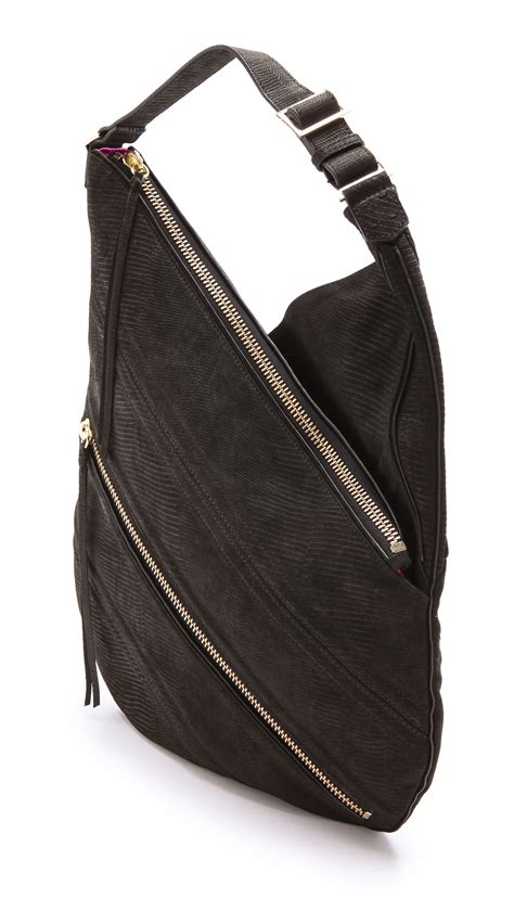 Botkier Black Ruched Hobo by Lyst Botkier Legacy Hobo Bag In Black