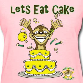 Lets Eat Cake Coconut Cake by Lets Eat Cake Monkey Pickles Gear Humor T Shirts