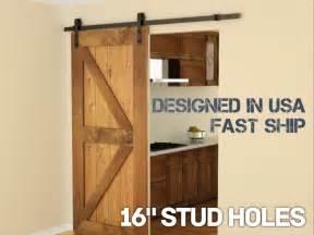 5ft modern european style steel wood sliding barn door hardware set