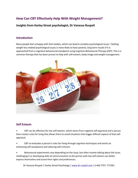 weight management powerpoint ppt how can cbt effectively help with weight management